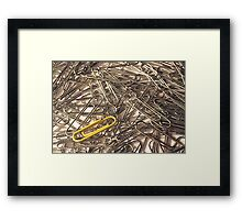Why be like everyone else? Framed Print