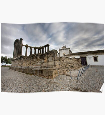 Roman Temple, Évora Poster