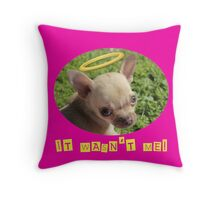 It Wasn't Me! Throw Pillow