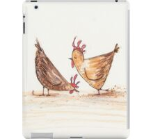 Silly, silly chickens iPad Case/Skin