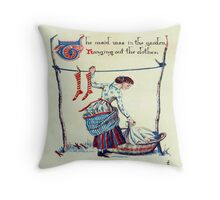 Nursery Rhyme Throw Pillow