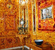 The Amber Room at Catherine Palace, Russia by Catherine Sherman