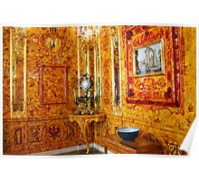 The Amber Room at Catherine Palace, Russia Poster