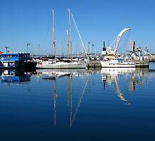 Harbour Life Reflections - Hobart by Marilyn Harris