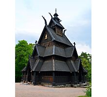 Norwegian Medieval Stave Church Photographic Print