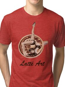 Latte art without circle Tri-blend T-Shirt