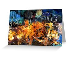 Fire in the Woods Greeting Card