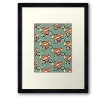 fox pattern Framed Print
