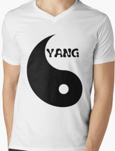 Classic Yang matches with Classic Yin Mens V-Neck T-Shirt