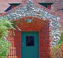 Cottage door, Sacramento bricks, mining_inlays by Lenny La Rue, IPA
