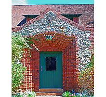 Cottage door, Sacramento bricks, mining_inlays Photographic Print