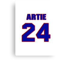 National football player Artie Owens jersey 24 Canvas Print