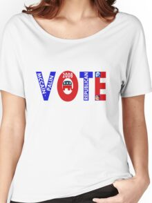 VOTE MCCAIN-PALIN 2008  Women's Relaxed Fit T-Shirt