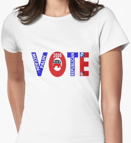 VOTE MCCAIN-PALIN 2008  Womens Fitted T-Shirt