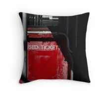 Used Tickets Throw Pillow