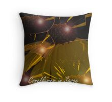 CORNFLOWER IN SPACE  Throw Pillow