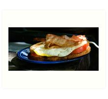 Bacon and Egg Sandwich Art Print