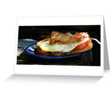 Bacon and Egg Sandwich Greeting Card