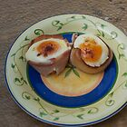 Bacon wrapped eggs by lexphoto
