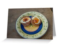 Bacon wrapped eggs Greeting Card