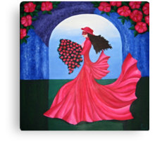 The Dance of the Rose Canvas Print