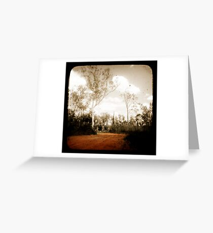 Outback Track Greeting Card