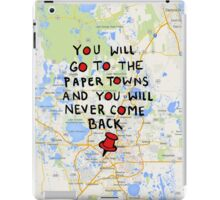Paper Towns: Quote3 iPad Case/Skin