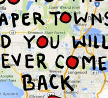 Paper Towns: Quote3 Sticker