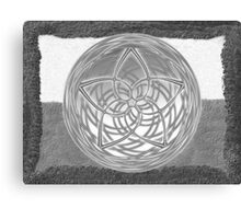 Celtic Spirals - Winter colors Canvas Print