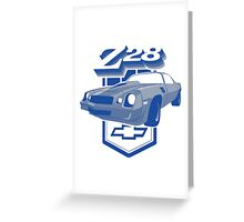 1979 Camaro Z28 two color illustration Greeting Card