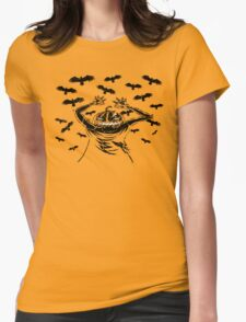 Halloween Symphony - Opening - Orange Sunset Womens Fitted T-Shirt