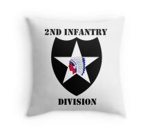 2nd Infantry Division W/Text Throw Pillow