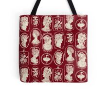 Cameos - red Tote Bag