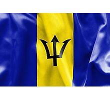 Barbados Flag Photographic Print