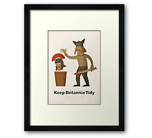 Keep Britannia Tidy Framed Print