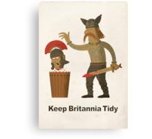 Keep Britannia Tidy Canvas Print