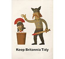 Keep Britannia Tidy Photographic Print
