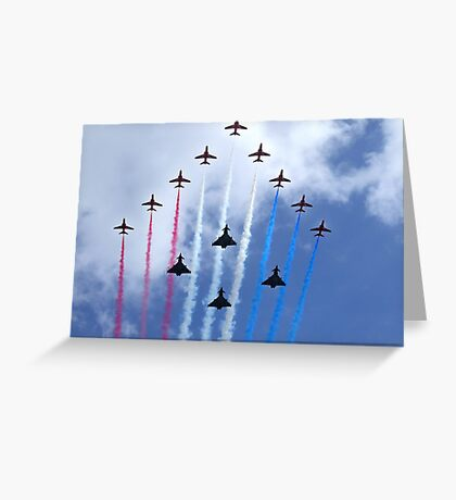 The Red Arrows Flypast Greeting Card