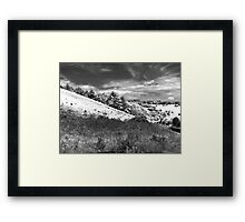 The black and white valley Framed Print