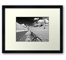 Black and white Yorkshire Framed Print