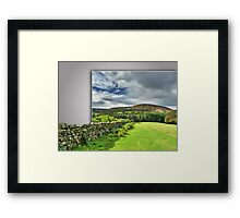 Out of bounds, Yorkshire stone wall Framed Print