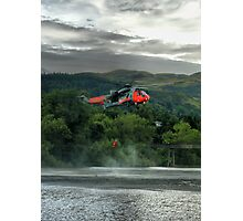 Sea King helicopter rescue drill, Stirling  Photographic Print