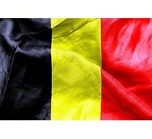 Belgium Flag Photographic Print