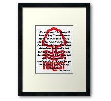 Stuart Pearce Quote Badge Framed Print