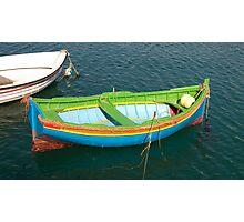 Green Maltese Boat Photographic Print