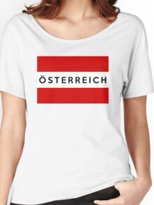 flag of austria Women's Relaxed Fit T-Shirt