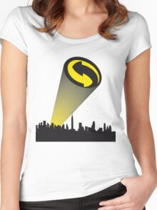 Recycle alert Women's Fitted Scoop T-Shirt