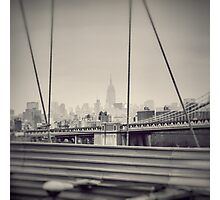 Staring at the Empire State Building Photographic Print