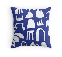 Practice Array - blue Throw Pillow