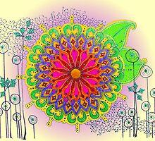 A Twist on Floral Henna by bajidoo